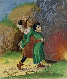Abduction of Persephone. Les Métamorphoses, c. 1480, French, 137, f 49, Bibliothèque nationale de France.