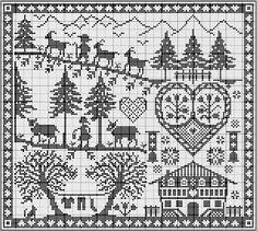 Free Pattern, Counted Cross Stitch, very nice. Cross Stitch Sampler Patterns, Cross Stitch Freebies, Cross Stitch Alphabet, Cross Stitch Samplers, Cross Stitch Designs, Cross Stitching, Cross Stitch Embroidery, Just Cross Stitch, Cross Stitch Charts