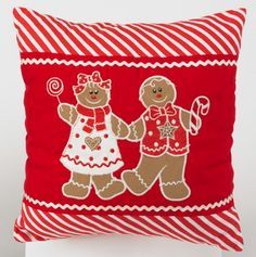 Gingerbread Boy and Girl Pillow, love this!!