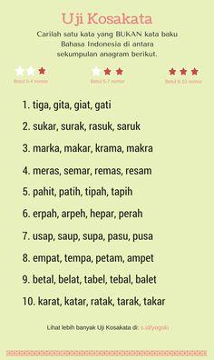 Uji Kosakata-Anagram Bahasa Indonesia edisi 1