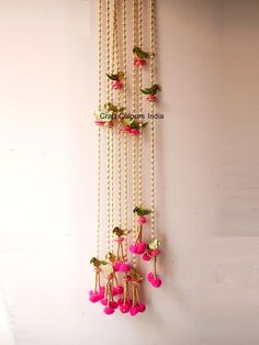 Pearl Garland, Beaded Garland, Garlands, Modern Christmas Decor, Unique Christmas Gifts, Indian Doors, Marigold Flower, Indian Wedding Decorations, Side Door