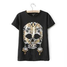 skull Pattern print short sleeve t-shirt