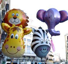 Vaya fauna tenemos montada en la tienda! Hoy se han empeñado en daros los buenos días! Así que aquí los tenéis con una sonrisa de oreja a oreja para desearos un día estupendo!!!  #Pippas #tiendasconencanto #Tiendasbonitas #salesas #Madrid #Balloon #Balloons #ideal #lion #jirafa #elephant #color #cebra by pippasstore