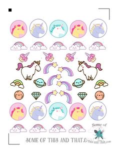 Free Unicorn Planner Stickers! Grab the file and you can print them off at home to use as many times as you would like!
