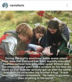 They are one of the best Film crews Narnia Cast, Narnia 3, Chronicles Of Narnia Books, Narnia Movies, Edmund Pevensie, Plus Tv, Prince Caspian, Movie Facts, Cs Lewis
