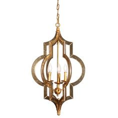 Shop for Scratched Gold Leaf Mirror Chandelier. Get free delivery at Overstock.com - Your Online Home Decor Store! Get 5% in rewards with Club O!
