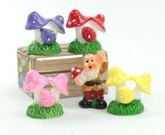 Set - Mushroom Trio- Set of 8 Pieces - 207-1207
