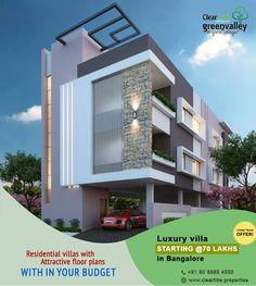 Modern House bungalow Exterior By, Sagar Morkhade (Vdraw Architecture) 8793196382 Bungalow Exterior, House Paint Exterior, Exterior House Colors, Modern Exterior, Building Exterior, Villa Design, Facade Design, Exterior Design, House Front Design