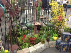Yard, Garden, And Patio Show Display 2014. Includes A Narrow Arbor, Potting  Bench And A Planted Candler. | Garden Gallery Iron Works Products |  Pinterest ...