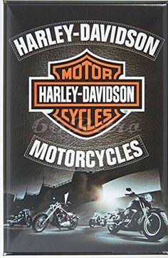 """Follow us to http://freecycleusa.com Harley-davidson Motorcycles, Metal Tin Sign, Size 8"""" X 12"""""""