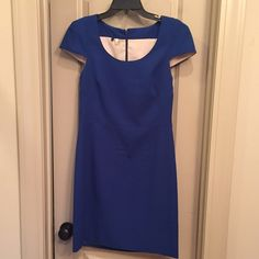 SPRING CLEANING! Perfect 4c dress NWOT! Classy blue dress perfect for an interview, the office, or glammed up with a statement necklace for a wedding!! Make an offer! Worn for 20 minutes for an interview. In mint condition ☺️ 4c Dresses