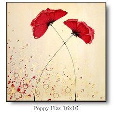 poppy fizza.   Artist Amanda Dagg likes to do uplifting paintings that emit joy.