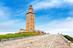 "Tower of Hercules — Spain.  With a name like ""Tower of Hercules"" and architecture inspired by the legendary Lighthouse of Alexandria, this 1,900-year-old lighthouse in Galicia, Spain, has a lot to live up to. And it does not disappoint! Although it existed as far back as the second century, the tower was given a neoclassical facelift in 1788."