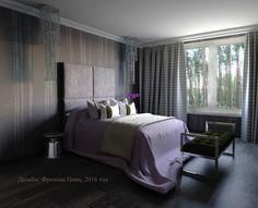 Дизайн-проект спальни в загородном доме в Репино Новая классика в интерьере спальни