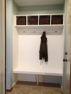 closet mudroom | Closet turned mudroom. | For the Home