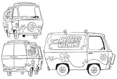 The Mystery Machine Free Scooby Doo Coloring Pages Full Size Image