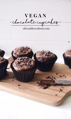 VEGAN CHOCOLATE CUPCAKES – Shivani Loves Food