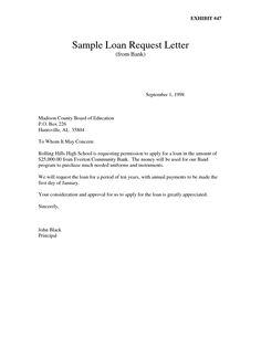 bank loan letter template