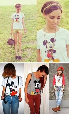 Official Junk Food Clothing Blog - Junk Food Tees - Retro and Vintage Tees: * SHOP THAT TREND // VINTAGE MICKEY TEE'S *
