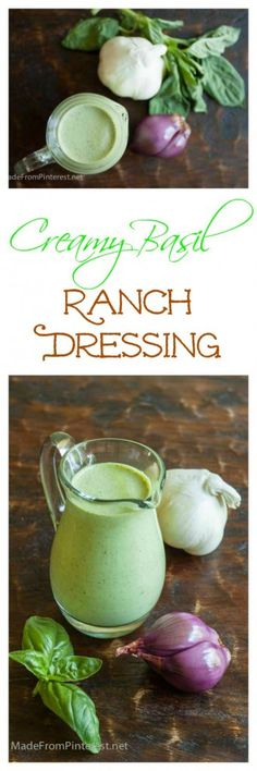 This Creamy Basil Ranch Dressing is a cinch to make and crazy good on pasta salads, veggies salads and for dipping. Great way to use all the basil in the garden!