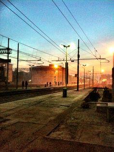 Stazione all'alba. Novi Ligure 2011