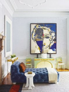 """Comfortable Contemporary"" ART AFFINITY: art with a day bed"