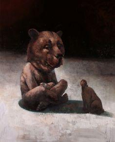 by Samuli Heimonen Figure Painting, Painting & Drawing, Modern Art, Contemporary Art, Sweet Station, Art Studies, Art Education, Panther, Surrealism