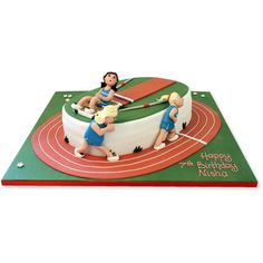 Athletics cake - For all your cake decorating supplies, please visit craftcompany.co.uk