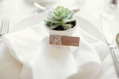 lace wrapped kraft paper place cards, succulent place cards and favors, simple lakeside wedding, peach, pink, beige, cream, and mint wedding ideas, Ruth Eileen Photography