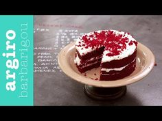 Red Velvet Cake από την Αργυρώ Μπαρμπαρίγου | Αυθεντική συνταγή red velvet κέικ από τον αμερικάνικο νότο. Τόσο αφράτο, με κρέμα μοναδική. Δοκιμάστε το όλοι! Greek Cake, Red Velvet Cake, Cake Youtube, Food Categories, I Foods, Birthday Candles, Cheesecake, Food And Drink, Pudding