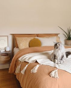 home.bendigo has styled our Sandalwood French Linen Duvet Cover with a White Sheet Set for a tonal pulled back look. has styled our Sandalwood French Linen Duvet Cover with a White Sheet Set for a tonal pulled back look.