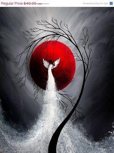 Modern Contemporary Fantasy Art - Beneath your Wings by Jaime Best Fantasy Kunst, Fantasy Art, Fantasy Landscape, Fantasy Fairies, Landscape Art, Moon Art, Painting & Drawing, Amazing Art, Art Drawings