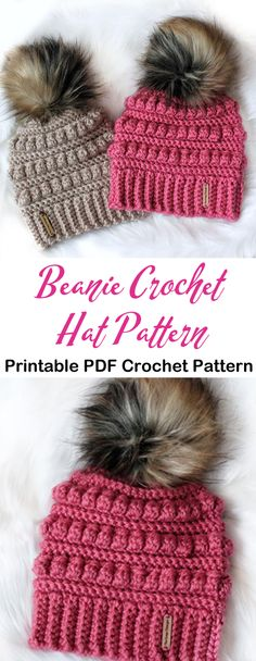 Make a Cozy Beanie - Winter Hat Pattern beanie crochet patterns - winter hat crochet patterns - croc Crochet Adult Hat, Crochet Diy, Crochet Beanie, Crochet Crafts, Knitted Hats, Crotchet, Yarn Projects, Crochet Projects, Knitting Patterns