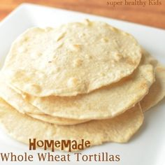 Homemade Whole Wheat Tortillas with Holiday Breakfast Burrito | Healthy Ideas for Kids