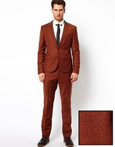 ASOS Slim Fit Suit in Rust