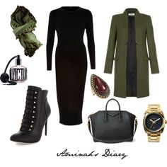 #17 Military Lady by aminahs-hijab-diary on Polyvore featuring River Island, BCBGMAXAZRIA, Givenchy, Nixon, Samantha Wills, canvas and Victoria's Secret