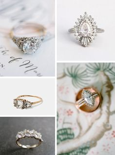 Our Top Engagement Ring Trends for 2016 mix vintage, classic and boho. Discover our favorite wedding ring trends that are here to stay. Boho Wedding Ring, Wedding Rings Vintage, Wedding Ring Bands, Vintage Rings, Wedding Jewelry, Rustic Wedding, Wedding Ring Styles, Top Engagement Rings, Wedding Engagement