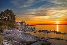 Petit matin a Port au Persil, Canada by Yvon Lacaille on Charlevoix, Voyager Loin, Beach Rocks, Canada, Quebec City, Sunset Photography, Banff, Land Scape, Summer Fun