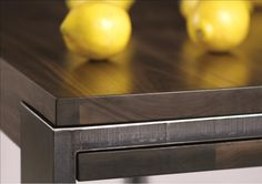 dt series dining table  Materials:  solid timber + cold rolled steel Dimensions:  made to order Options:  *This piece is custom made to order - please inquire as to specialty configurations, options, materials + pricing.
