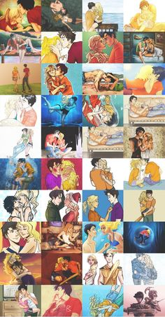 Percy Jackson and Annabeth Chase.