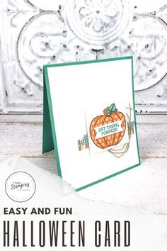 Today I am sharing some adorable Stampin' Up! Fall cards with lots of tips on how to get great card texture to make your projects pop. Fast, easy and uses up your scraps - come check out my handmade fall card ideas! Halloween Cards, Halloween Fun, Fall Cards, Free Paper, Stamping, Card Ideas, Card Making, Paper Crafts, Place Card Holders