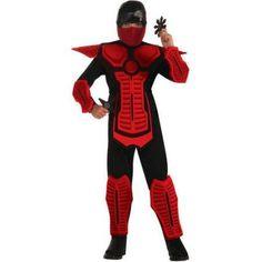 Red Ninja Boy Halloween Costume, Size: Large, Multicolor