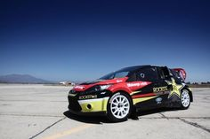 Rockstar Ford Fiesta rally car. My car may be tiny but it's got the heart of a race car! Lol