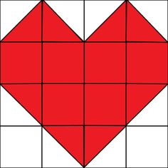 """It's the first Monday of the month which means it's time for our Quilt Block of the Month! This month we are doing a heart quilt block for Valentine's Day. This block was not included on our Quilt Block of the Month Quilt…it is a """"bonus block"""" that can easily be made into a mini …"""