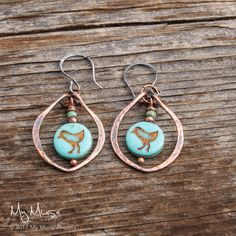 Bird Earrings, Bohemian Earrings, Copper Dangle Earrings, Boho Style from www.mymusejewelry.com