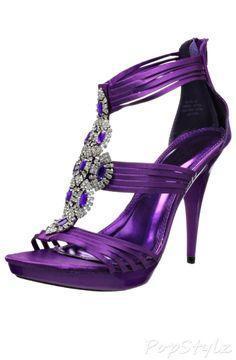 Lovely Deep Purple Satin Sandal