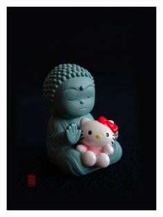 Kawaii Buddha and Kitty  #hellokitty