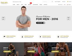 """Check out new work on my @Behance portfolio: """"Jhilmil - eCommerce Bootstarp Template"""" http://be.net/gallery/43623735/Jhilmil-eCommerce-Bootstarp-Template"""