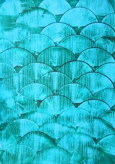 """Gorgeous Handmade """"fish-scale"""" paste paper! Great for mats, journals, & mod-podging onto painted furniture panels."""