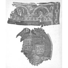 Textile fragments 1150-1160  Lower Saxony  Linen Embroidered with silk and wool  V collection